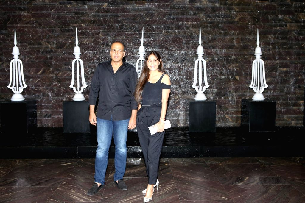 Director Ashutosh Gowariker along with his wife Sunita Gowariker at actress Kiara Advani birthday celebration in Mumbai on July 30, 2018. - Kiara Advani