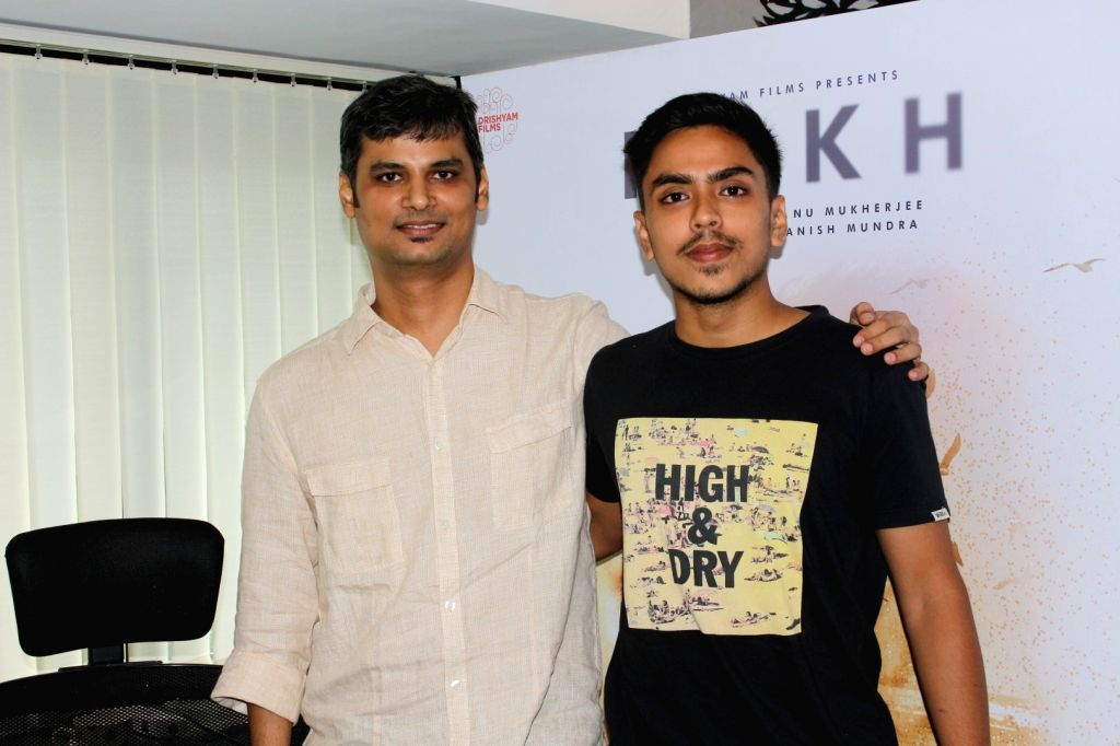 "Director Atanu Mukherjee and Actor Adarsh Gourav during the promotion of film ""Rukh"" in Mumbai on Oct 10, 2017. - Adarsh Gourav and Atanu Mukherjee"
