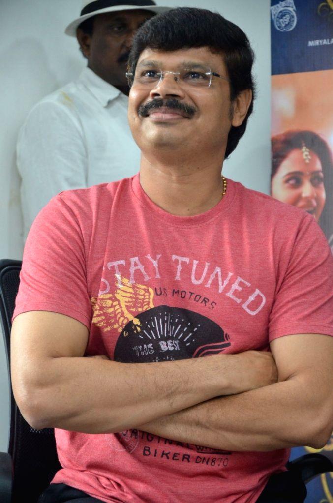 "Director Boyapati Srinu stills from Telugu film ""Jaya Janaki Nayaka "" in Hyderabad."