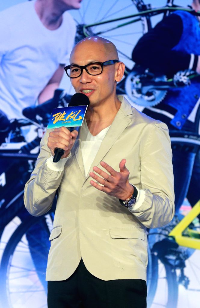 """Director Dante Lam attends the press conference of the movie """"To the Fore"""" in Beijing, capital of China, Aug. 2, 2015. The movie is expected to hit the ..."""