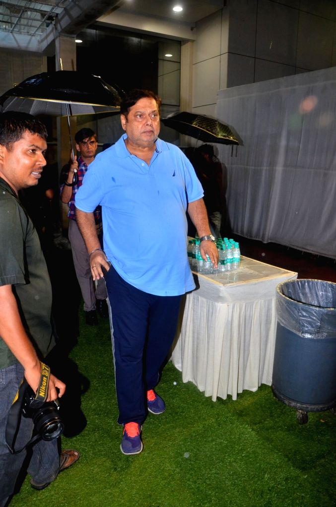 Director David Dhawan attand late Director Kundan Shah's prayer meet in Mumbai on Oct 10, 2017. - Kundan Shah