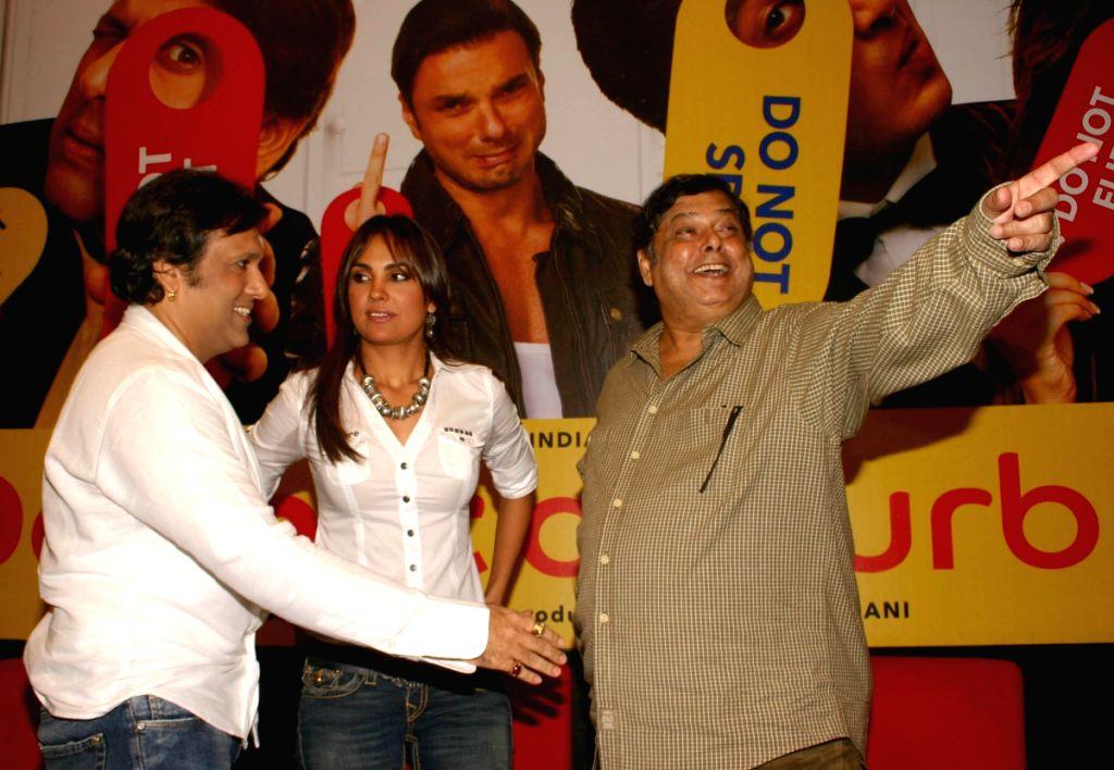 "Director David Dhawan with Actors Govinda and Lara Dutta  at a press meet for the film ""Do Knot Disturb"" in New Delhi on Tuesday 15 Sep 09. - Lara Dutta"