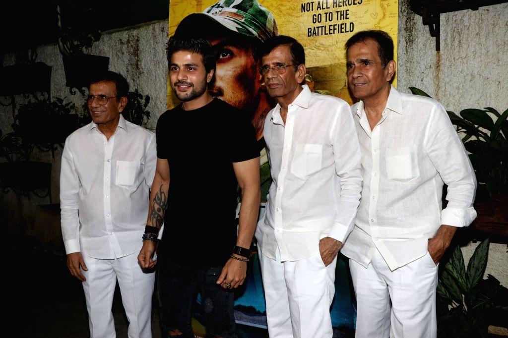 "Director duo Abbas-Mustan and actor Mustafa Burmawala at the special screening of her upcoming ""Satellite Shankar"" in Mumbai on Nov 6, 2019. - Mustafa Burmawala"
