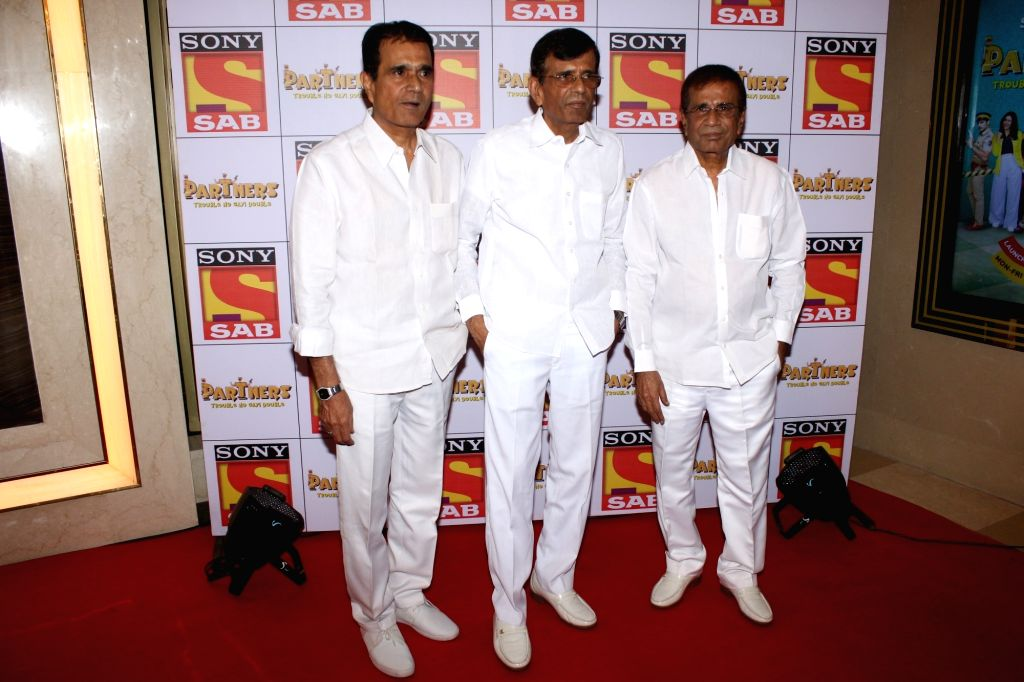 """Director Duo - Abbas Mustan at the red carpet of new television show """"Partners"""" in Mumbai on Nov 28, 2017."""