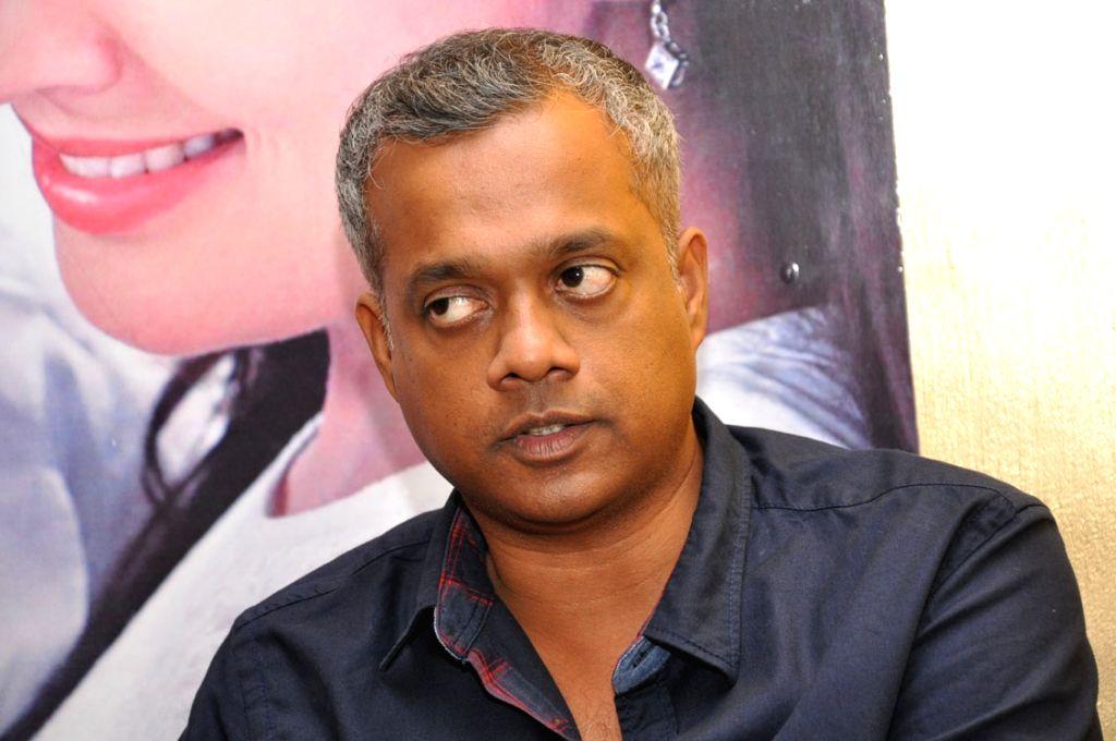 Director Gautham Menon during a press meet.