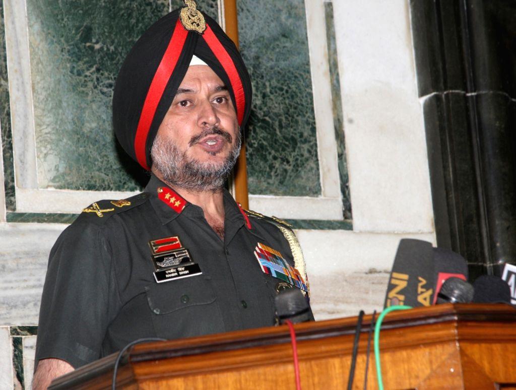 Director General Military Operations (DGMO) Lt. Gen. Ranbir Singh briefs the media on the terrorist attack at Army Camp in Uri of Jammu and Kashmir; in New Delhi on Sept 19, 2016. - Ranbir Singh