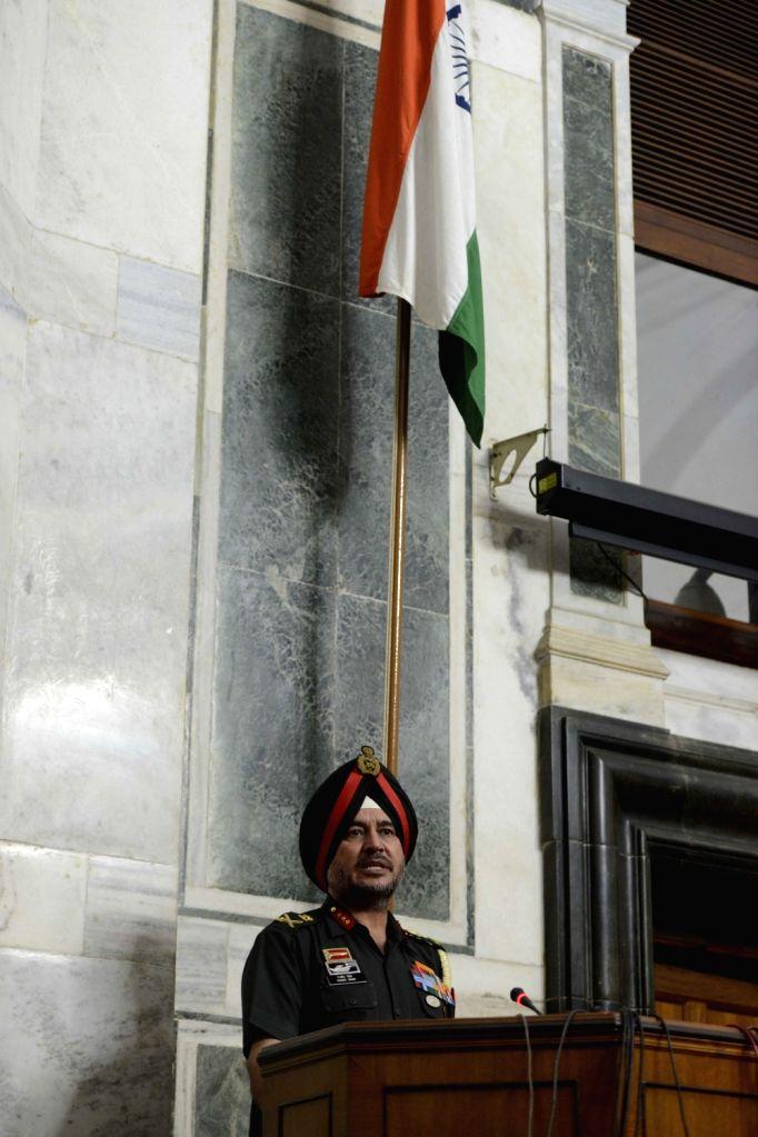Director General Military Operations (DGMO), Ranbir Singh addresses press regarding terror attack on Indian Army base in Uri district of Jammu and Kashmir, in New Delhi on Sept 18, 2016. - Ranbir Singh