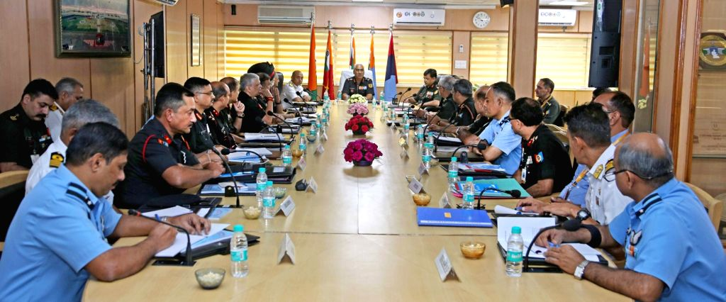 Director General, National Cadet Corps (NCC), Lt. Gen. Rajeev Chopra chairs the inaugural session of three-day bi-annual conference of National Cadet Corps (NCC), in New Delhi on Sep 4, ... - Rajeev Chopra