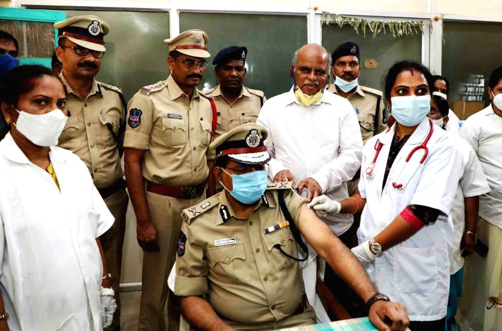 Director General Police  M. Mahender Reddy took the second dose of Kovid vaccine today. Kovacin was vaccinated at the Amberpet Urban Health Center. Vaccination under the supervision of ... - M. Mahender Reddy