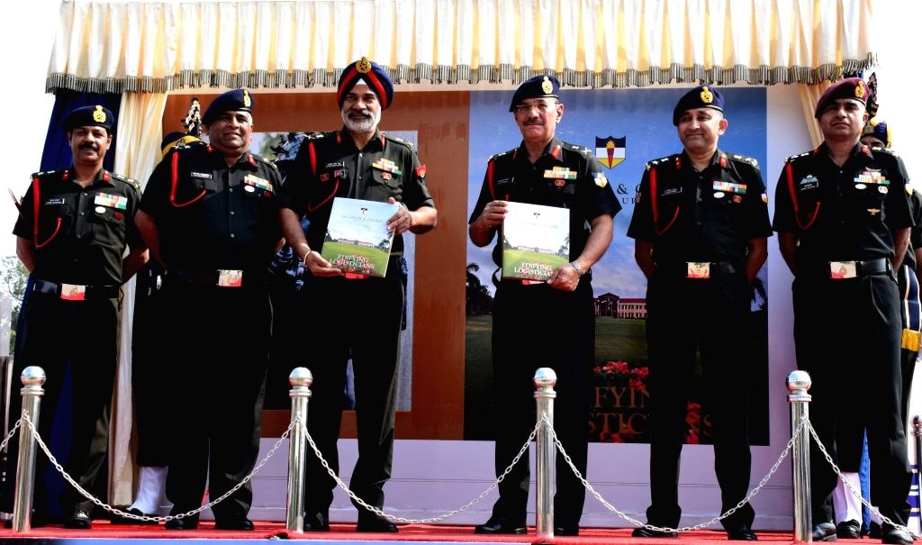 Director General Supply and Transport and Colonel Commandant Lt Gen Balbir Singh Sandhu at the release of `Edifying Logisticians' - a Coffee Table Book on ASC Centre and College in ... - Balbir Singh Sandhu