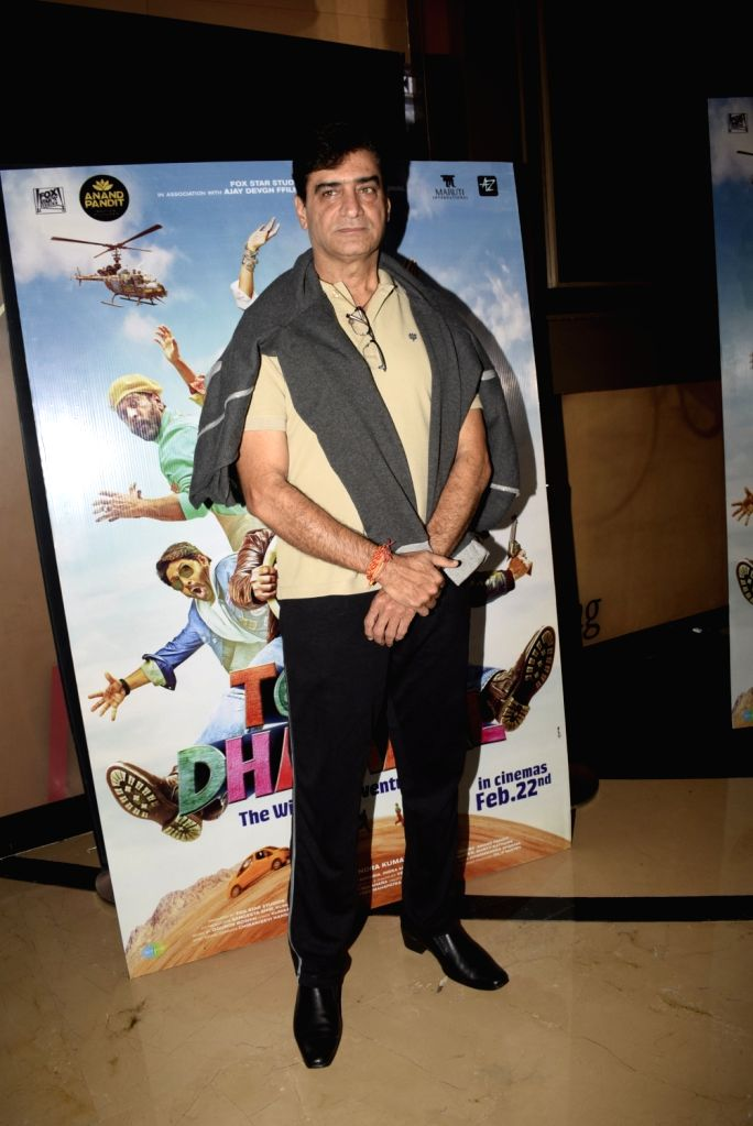 "Director Indra Kumar at the screening of film ""Total Dhamaal"" in Mumbai on Feb 22, 2019. - Kumar"