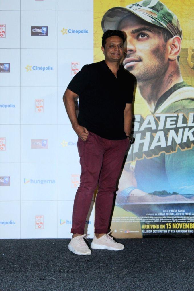 "Director Irfan Kamal during the trailer launch of his upcoming film ""Satellite Shankar"" in Mumbai on Oct 17, 2019."