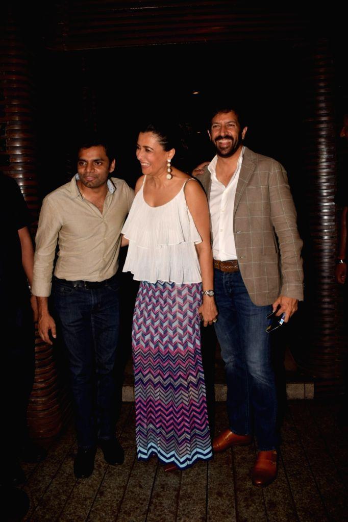 Director Kabir Khan along with his wife Mini Mathur at Estella Lounge in Mumbai on Oct 10, 2017. - Kabir Khan
