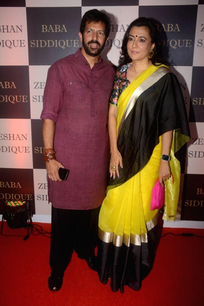 Director Kabir Khan along with his wife Mini Mathur at politician Baba Siddique's iftar party in Mumbai on June 10, 2018. - Kabir Khan
