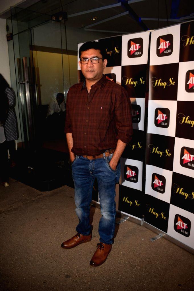 "Director Ken Ghosh at the special screening of web series ""Haq Se"" in Mumbai on Jan 30, 2018. - Ghosh"