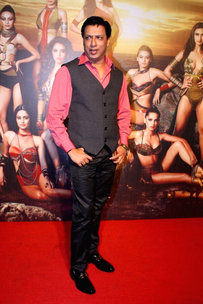 """Director Madhur Bhandarkar at the star studded red carpet of """"Miss Diva 2017"""" in Mumbai on Sept 18, 2017."""