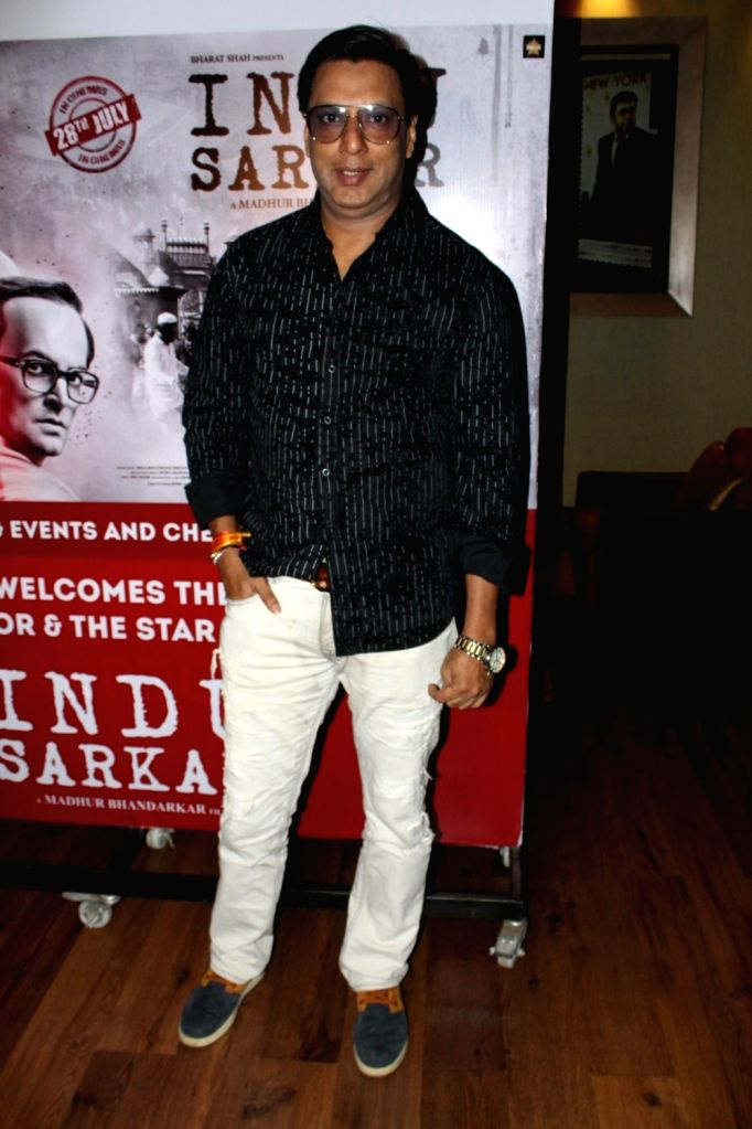 "Director Madhur Bhandarkar during the special screening of film ""Indu Sarkar"" in Mumbai on Aug 16, 2017."