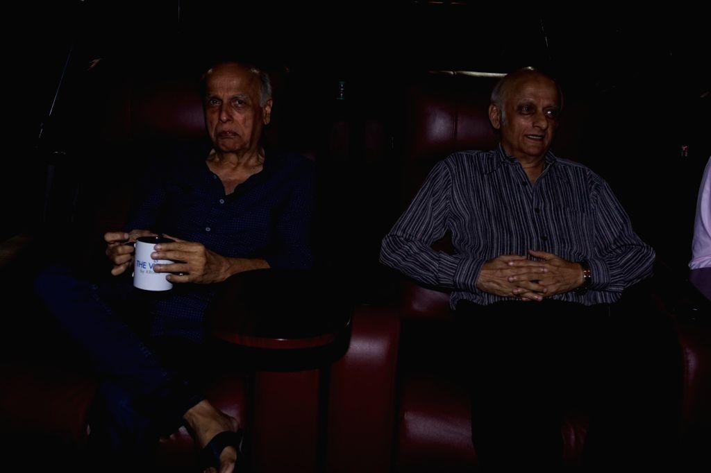 Director Mahesh Bhatt and producer Mukesh Bhatt during a book launch in Mumbai on Feb 12, 2018.