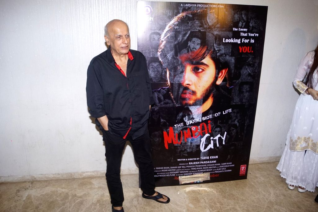 "Director Mahesh Bhatt at the trailer launch of his upcoming film ""The Dark Side Of Life Mumbai City"" in Mumbai on Sept 10, 2018."