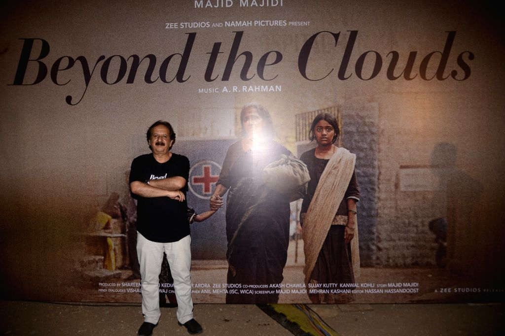 "Director Majid Majidi at the song launch of his upcoming film ""Beyond the Clouds"" in Mumbai on April 6, 2018."