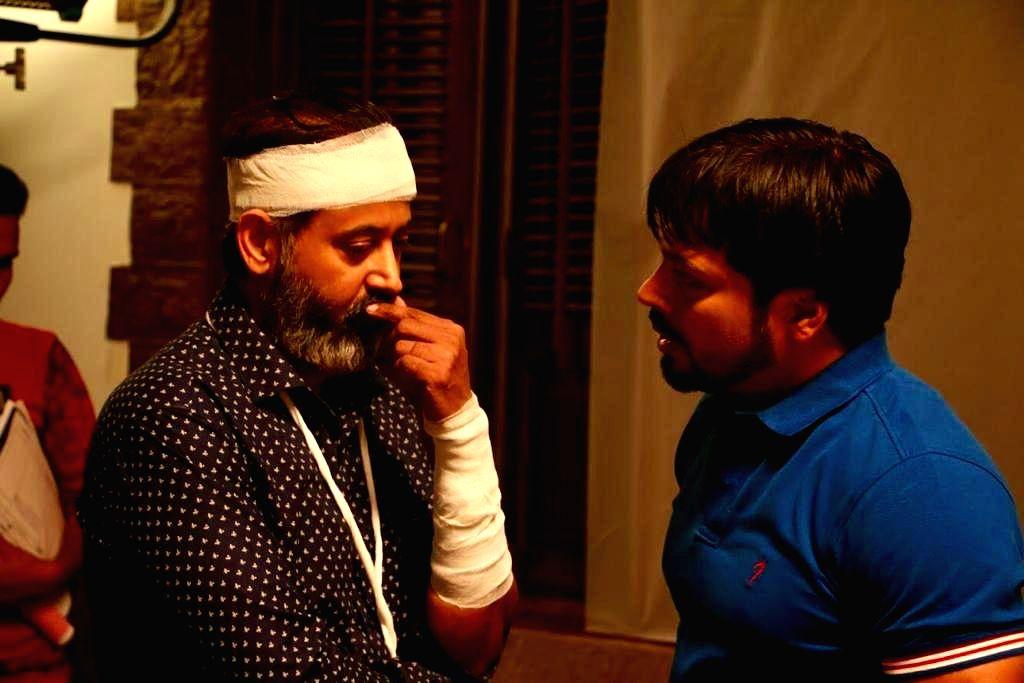 Director Manish Vatssalya (right) with lead actor Adam Saini (left). - Adam Saini