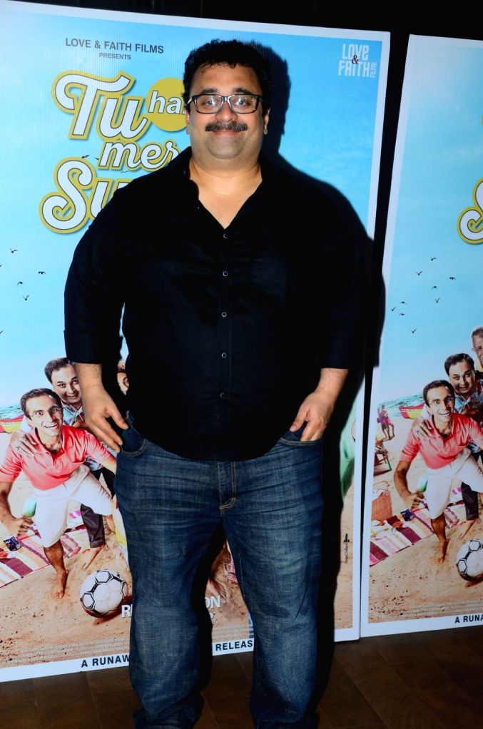 """Director Milind Dhaimade during the promotions of his upcoming film """"Tu Hai Mera Sunday"""" in Mumbai on Sept 17, 2017."""