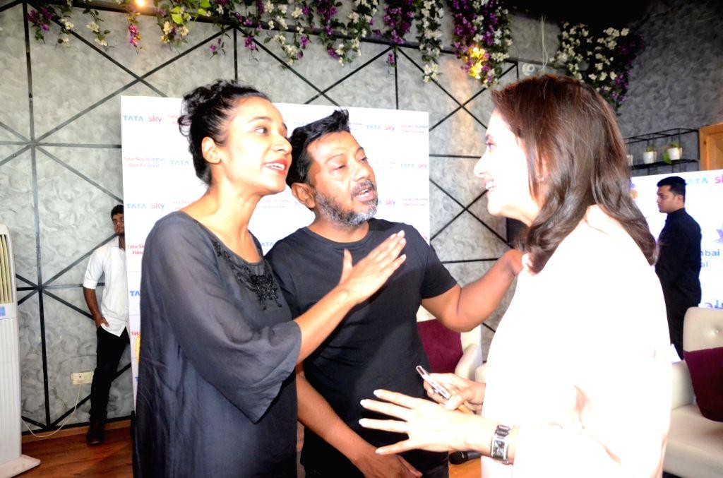 Director Onir, Actress Tannishtha Chatterjee, Film Critic Anupama Chopra during the Tata Sky and Mami Hidden Gems of Indian Cinema panel discussion  in Mumbai on Oct 4, 2017. - Tannishtha Chatterjee and Critic Anupama Chopra