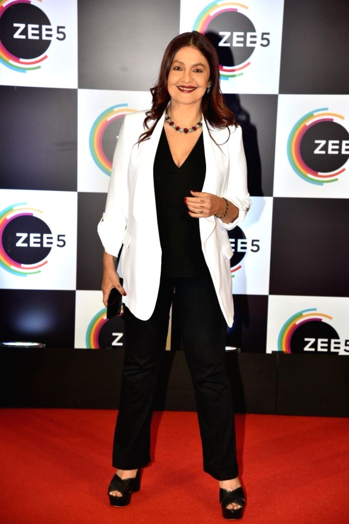 Director Pooja Bhatt on the red carpet of Zee5's first anniversary celebrations in Mumbai, on Feb 14, 2019.