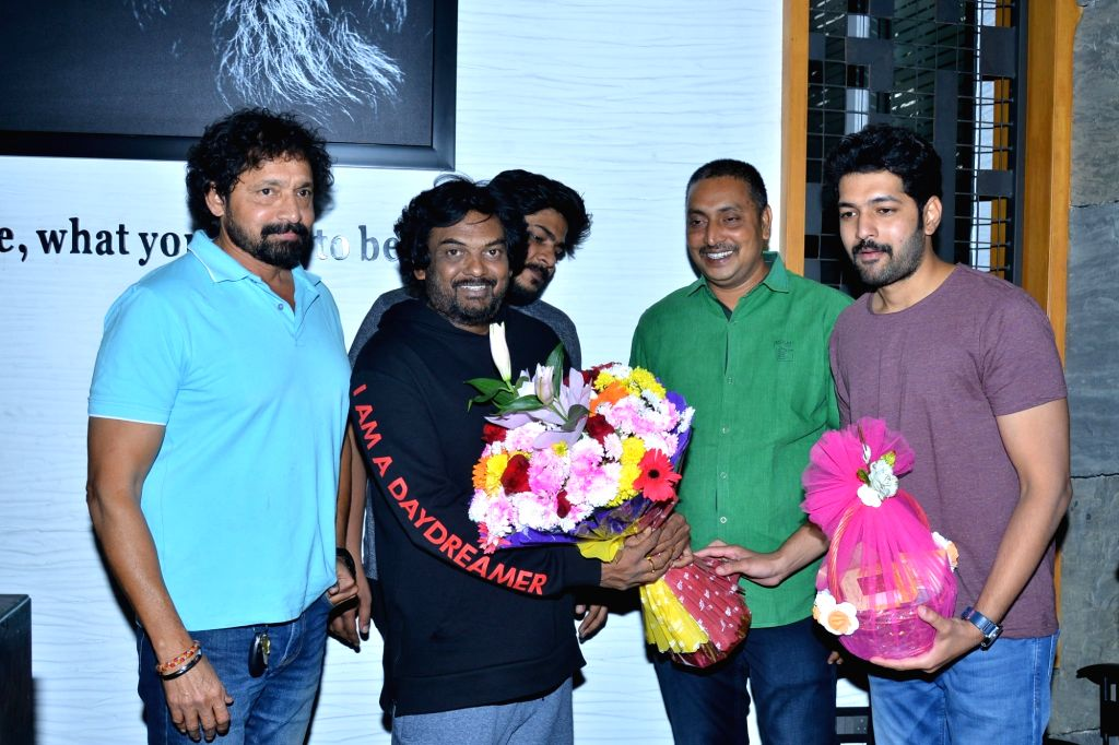 Director Puri Jagannadh during the launch of motion poster of the film DheergaAyushmanBhava in Mumbai on Jan 28, 2018.