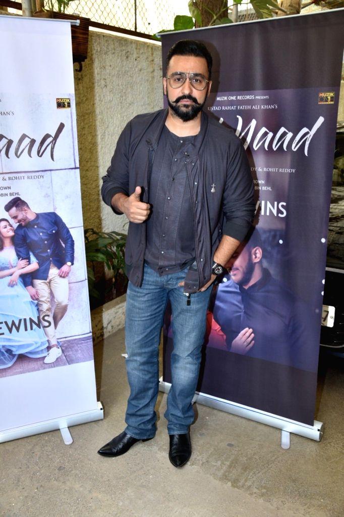 "Director Raj Kundra at the launch of his music album ""Teri Yaad"" in Mumbai, on Feb 9, 2019. - Raj Kundra"