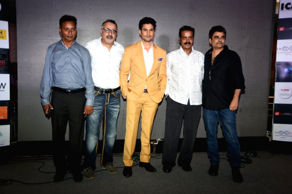 Director Rajeev Jhaveri, producer Ravi Agarwal, Rajath Manjunath, Ajay Chabaria and actor Rajeev Khandelwal during the music launch of the film 'Fever' in Mumbai. - Rajeev Khandelwal