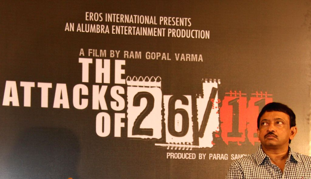 Director Ram Gopal Varma at the first look launch of The Attacks of 26/11 in Mumbai. (Photo: IANS)