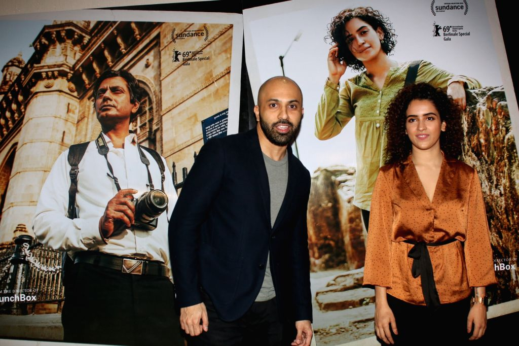 "Director Ritesh Batra and actress Sania Malhotra at the trailer launch of her upcoming film ""Photograph"" in Mumbai on Feb 18, 2019. - Sania Malhotra"