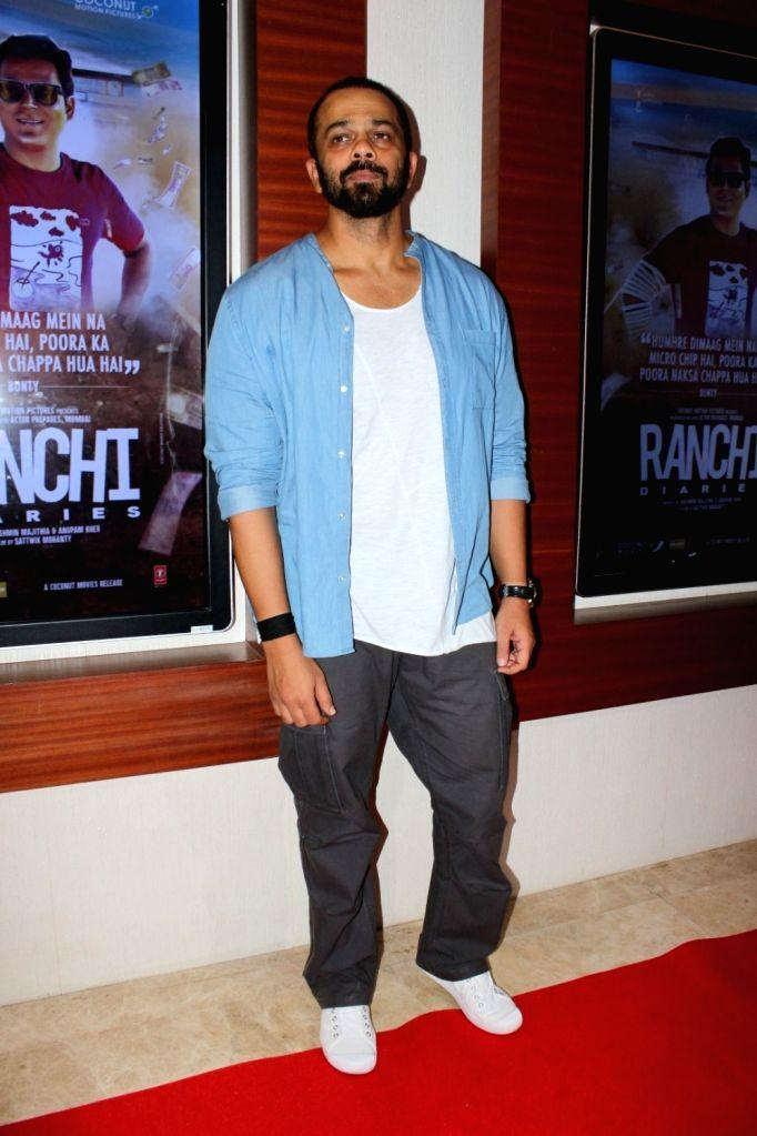 "Director Rohit Shetty during the trailer launch of film ""Ranchi Diaries"" in Mumbai on Sept 12, 2017. - Rohit Shetty"