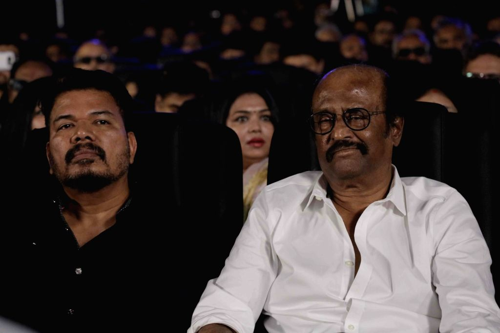 "Director S. Shankar and actor Rajinikanth at the trailer launch of their upcoming film "" 2.0"" in Chennai on Nov 3, 2018. - Rajinikanth"