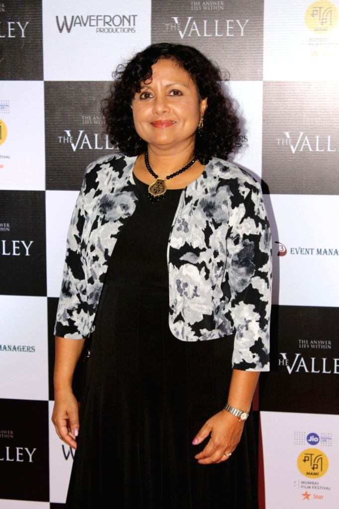 "Director Saila Kariat during the promotion of film ""The Valley"" in Mumbai on Oct 10, 2017."