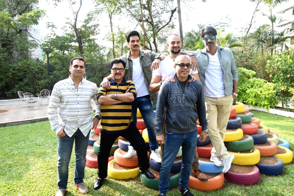 """Director Shashant Shah with actors Arunoday Singh, Sikander Kher, Shiv Panditt and Hrishitaa Bhatt at the media interactions for their upcoming web series """"The Chargesheet: Innocent or ... - Arunoday Singh, Sikander Kher, Shiv Panditt, Hrishitaa Bhatt and Shashant Shah"""