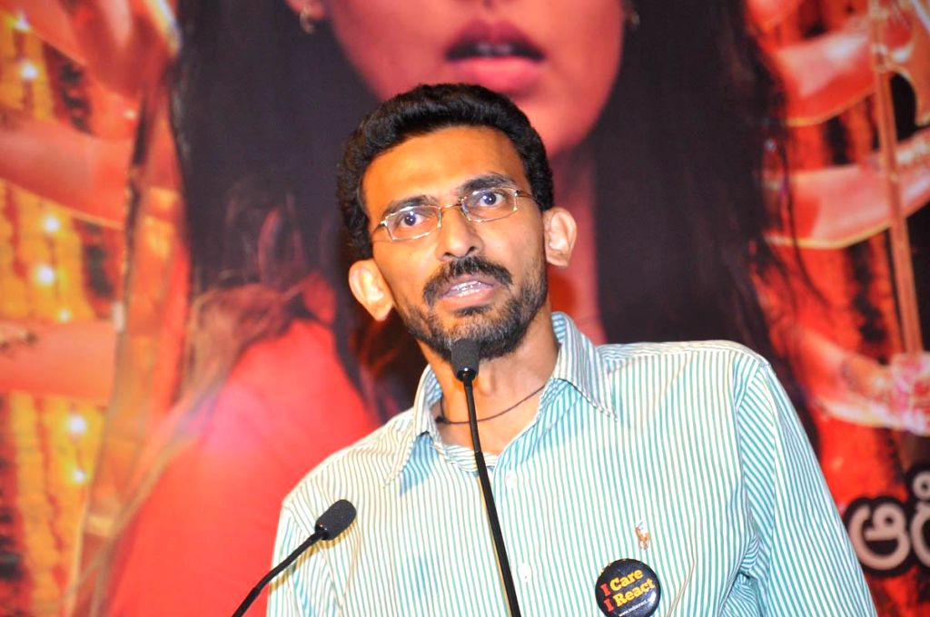 Director Shekar Kammula during the launch of telugu film Anamika audio release function held at Hyderabad