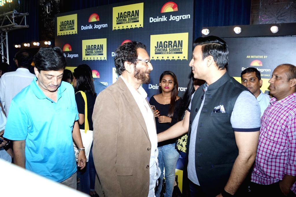 "Director Shekhar Kapur and Actor Vivek Oberoi during the ""Jagran Cinema Host Summit"" to Discuss Future of Film in Mumbai on Sept 15, 2017. - Vivek Oberoi"