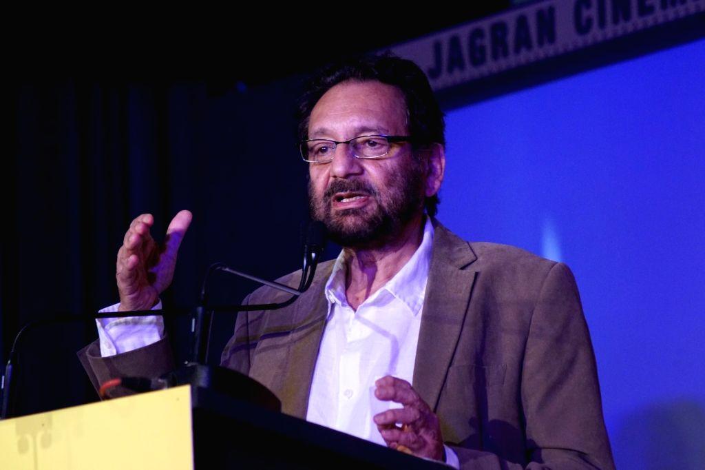 "Director Shekhar Kapur during the ""Jagran Cinema Host Summit"" to Discuss Future of Film in Mumbai on Sept 15, 2017."