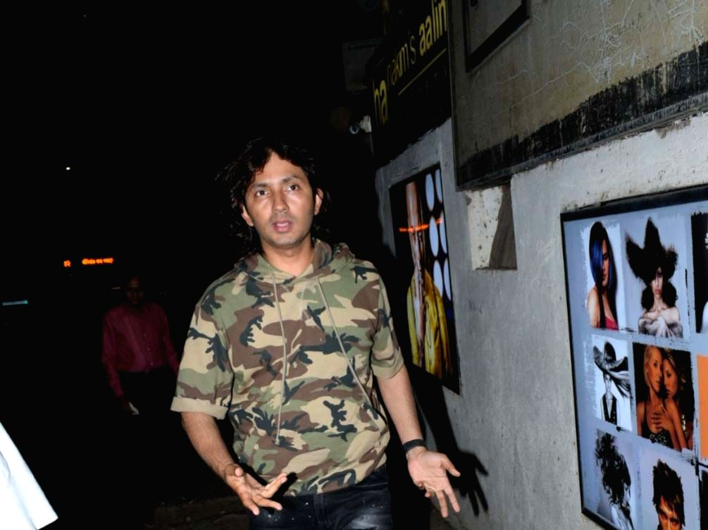 Director Shirish Kunder seen outside hairstylist Hakim Aalim's salon in Mumbai's Andheri, on May 14, 2019.