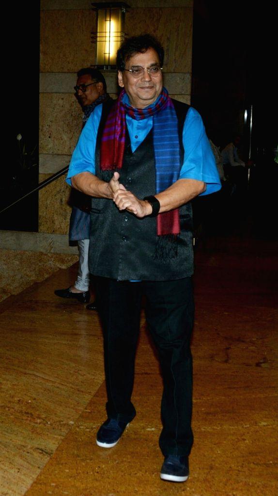 Director Subhash Ghai during sangeet ceremony of All India Football Federation (AIFF) President Praful Patel's daughter Poorna Patel  in Mumbai on July 19, 2018. - Praful Patel and Poorna Patel