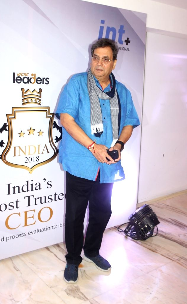 Director Subhash Ghai during the third edition of the WCRC Idea-fest 2018 awards in Mumbai on Aug 27, 2018.