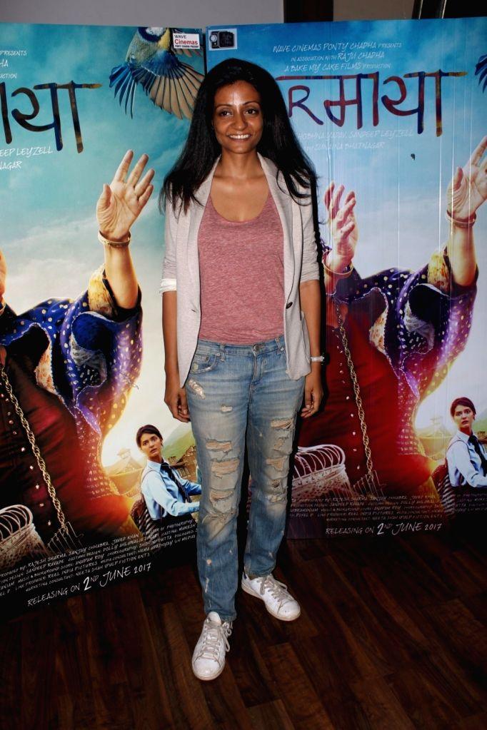 Director Sunaina Bhatnagar during the interview for film Dear Maya in Mumbai on May 27, 2017.