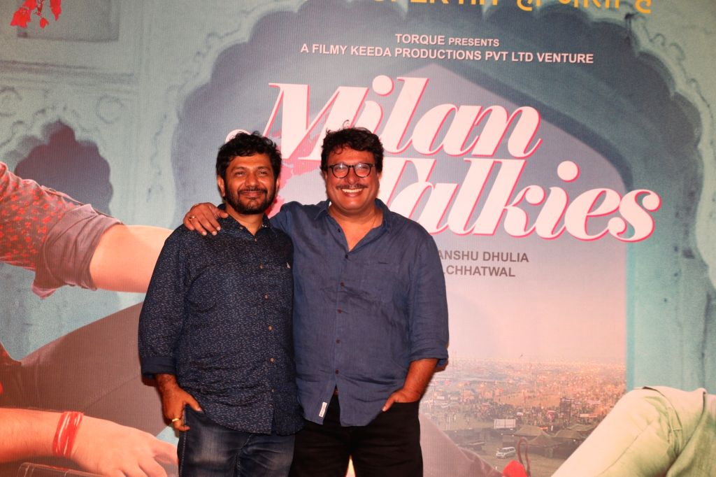 "Director Tigmanshu Dhulia and screenwriter Kamal Pandey at the trailer launch of their upcoming film ""Milan Talkies"" in Mumbai, on Feb 20, 2019. - Kamal Pandey"