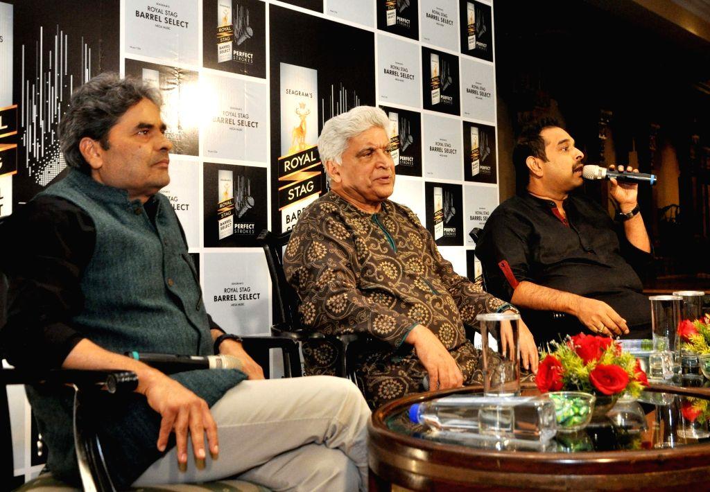 Director Vishal Bhardwaj, composer Shankar Mahadevan, lyricist Javed Akhtar during a promotional programme in Kolkata on Nov 25, 2016. - Vishal Bhardwaj