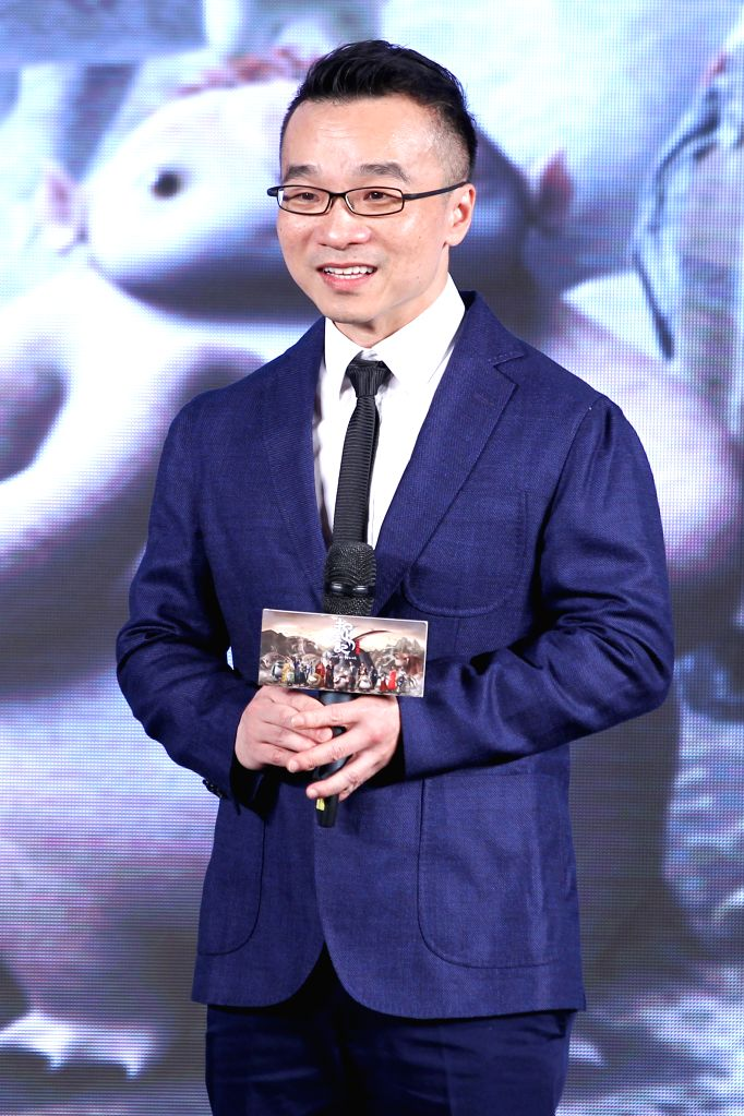 "Director Xu Chengyi attends the press conference for the premiere of his new movie ""Monster Hunt"" in Beijing, capital of China, July 5, 2015. The movie ..."