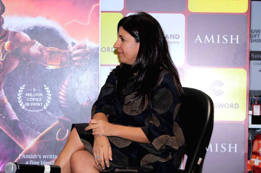 Director Zoya Akhtar at the book launch of author Amish Tripathi in Mumbai, on June 3, 2019. - Tripathi