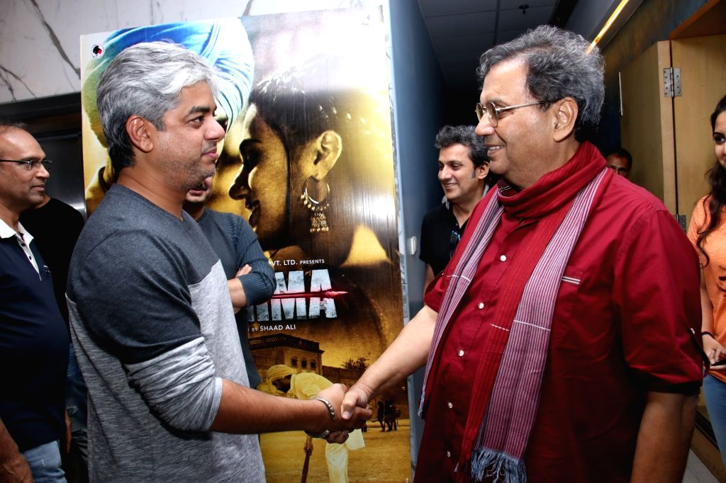 """Directors Shaad Ali and Subhash Ghai at the special screening of upcoming film """"Soorma"""" in Mumbai on July 11, 2018."""