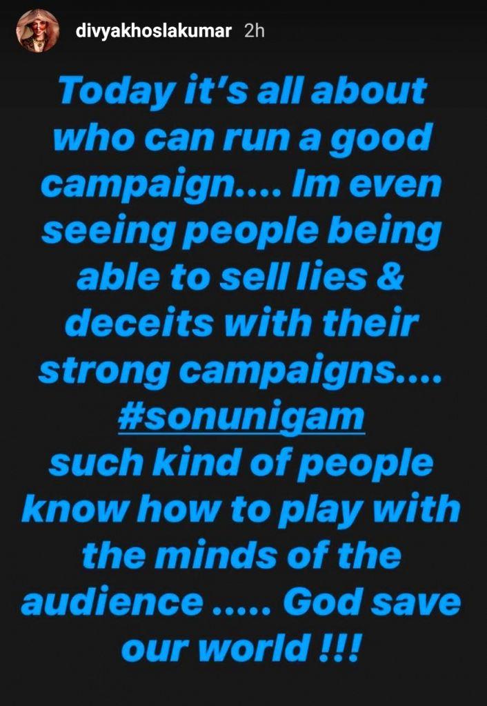 Divya Khosla Kumar accuses Sonu Nigam of 'selling lies'. - Sonu Nigam and Divya Khosla Kumar